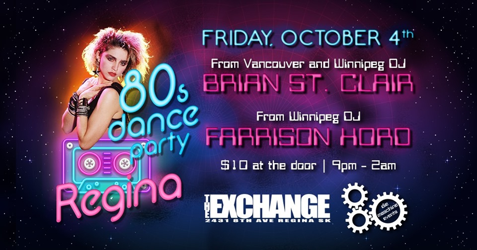80's Dance Party Regina