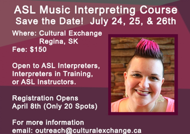 SOLD OUT! ASL Music Interpreters Course - July 24 - 26