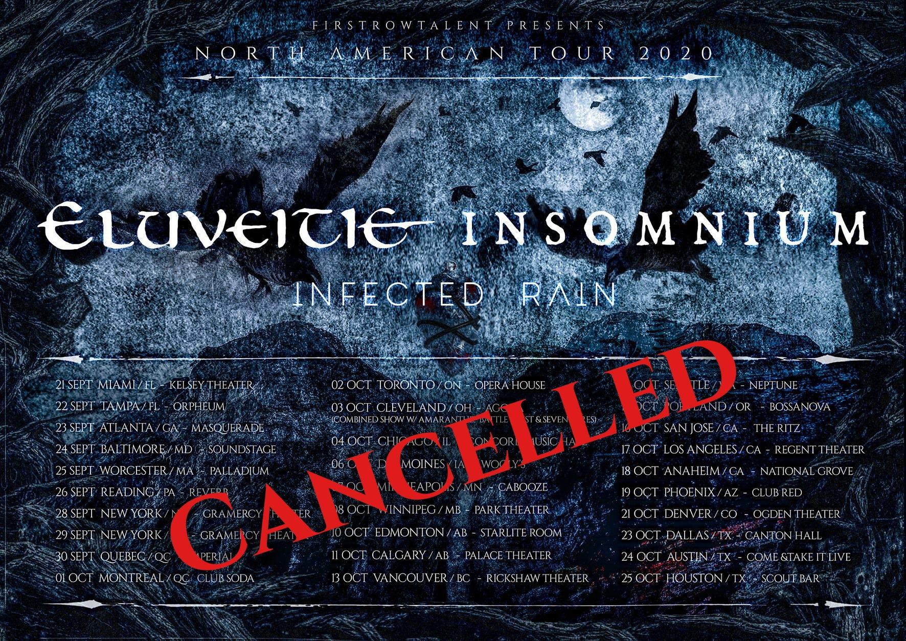 Eluveitie, Insomnium, Infected Rain