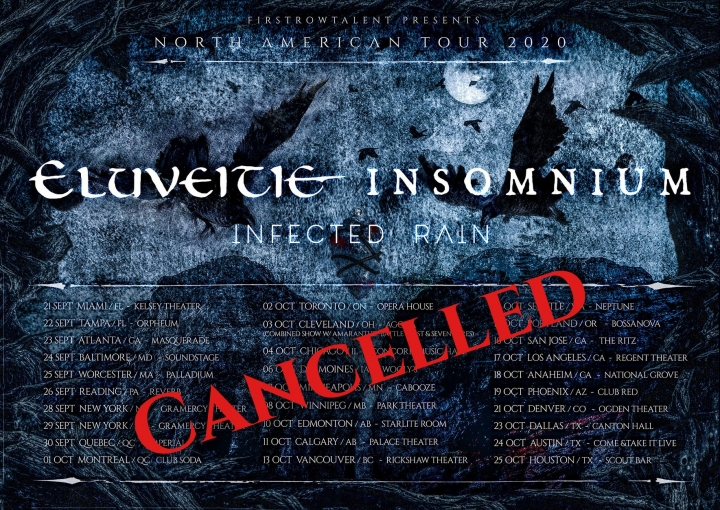 Cancelled - Eluveitie, Insomnium, Infected Rain
