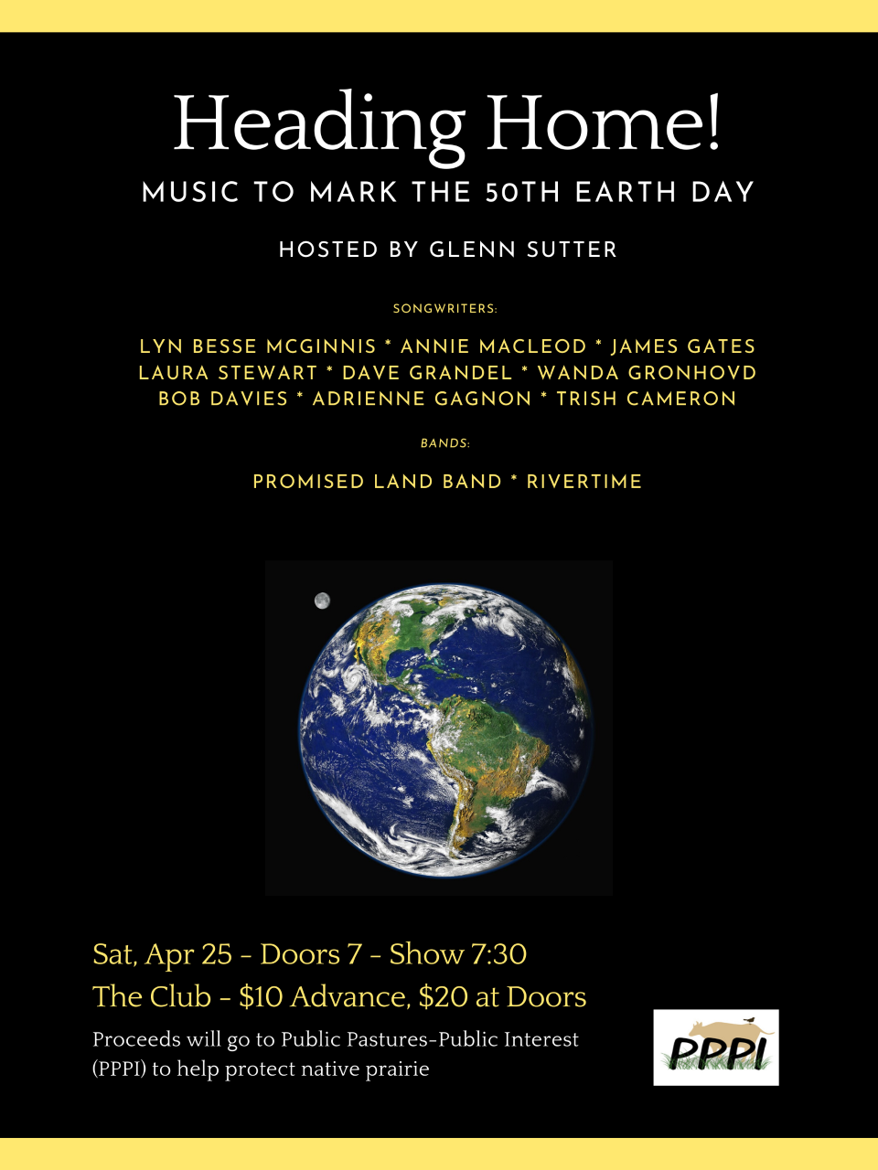 Heading Home - Music to mark the 50th Earth Day - Cancelled