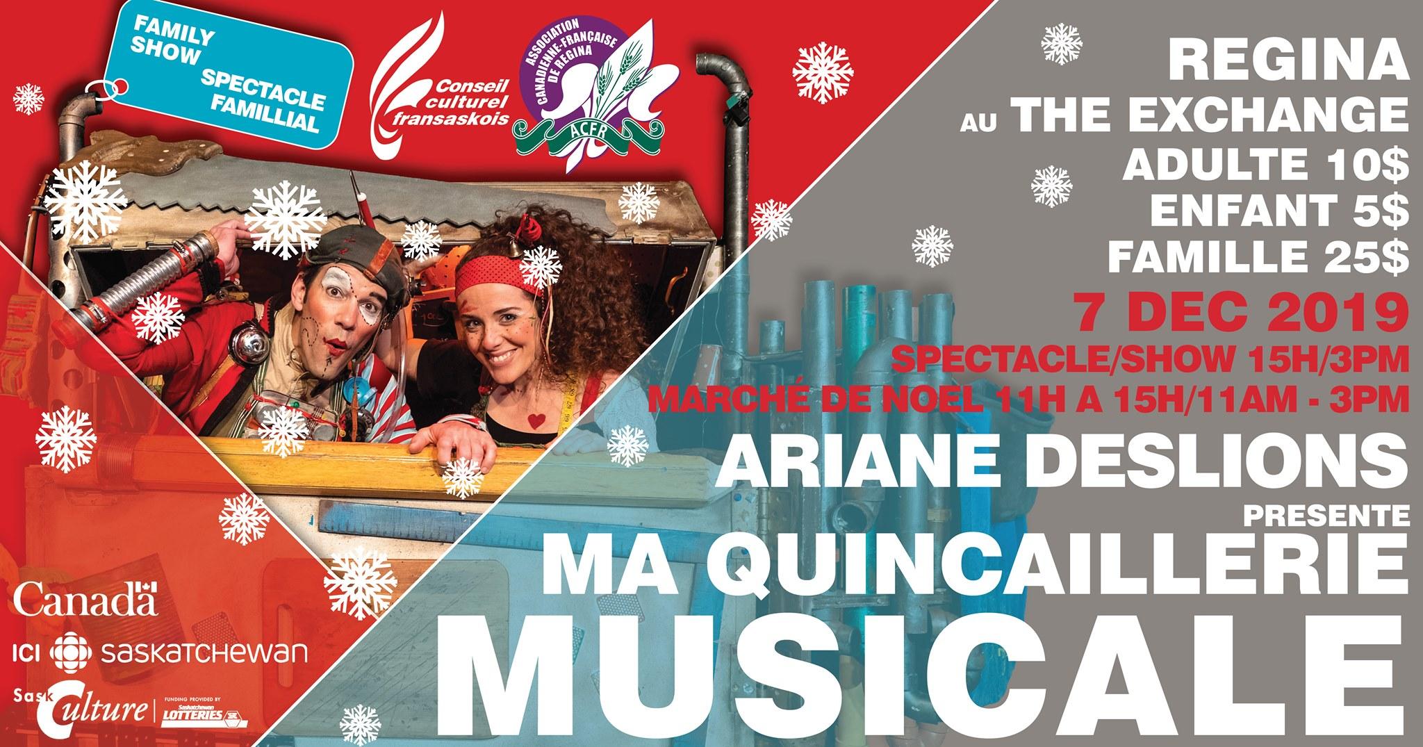 Marché de Noël & Spectacle Ma Quincaillerie musicale à Regina