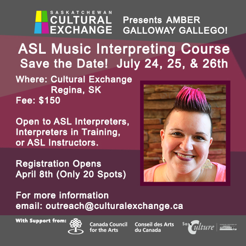 SOLD OUT! ASL Music Interpreters Course - July 24 - 26 - Image 1