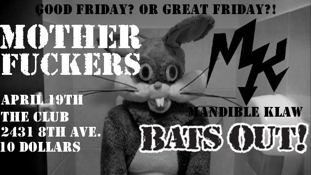 MOTHER F**KERS, MANDIBLE KLAW, Bats out! - Image 1