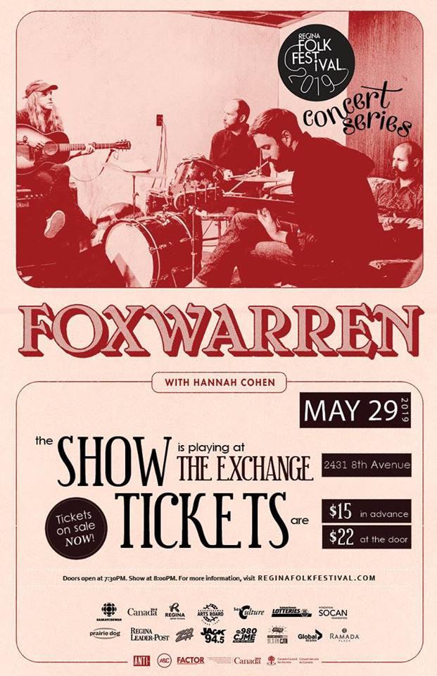 Regina Folk Festival Presents: FOXWARREN with Hannah Cohen - Image 1
