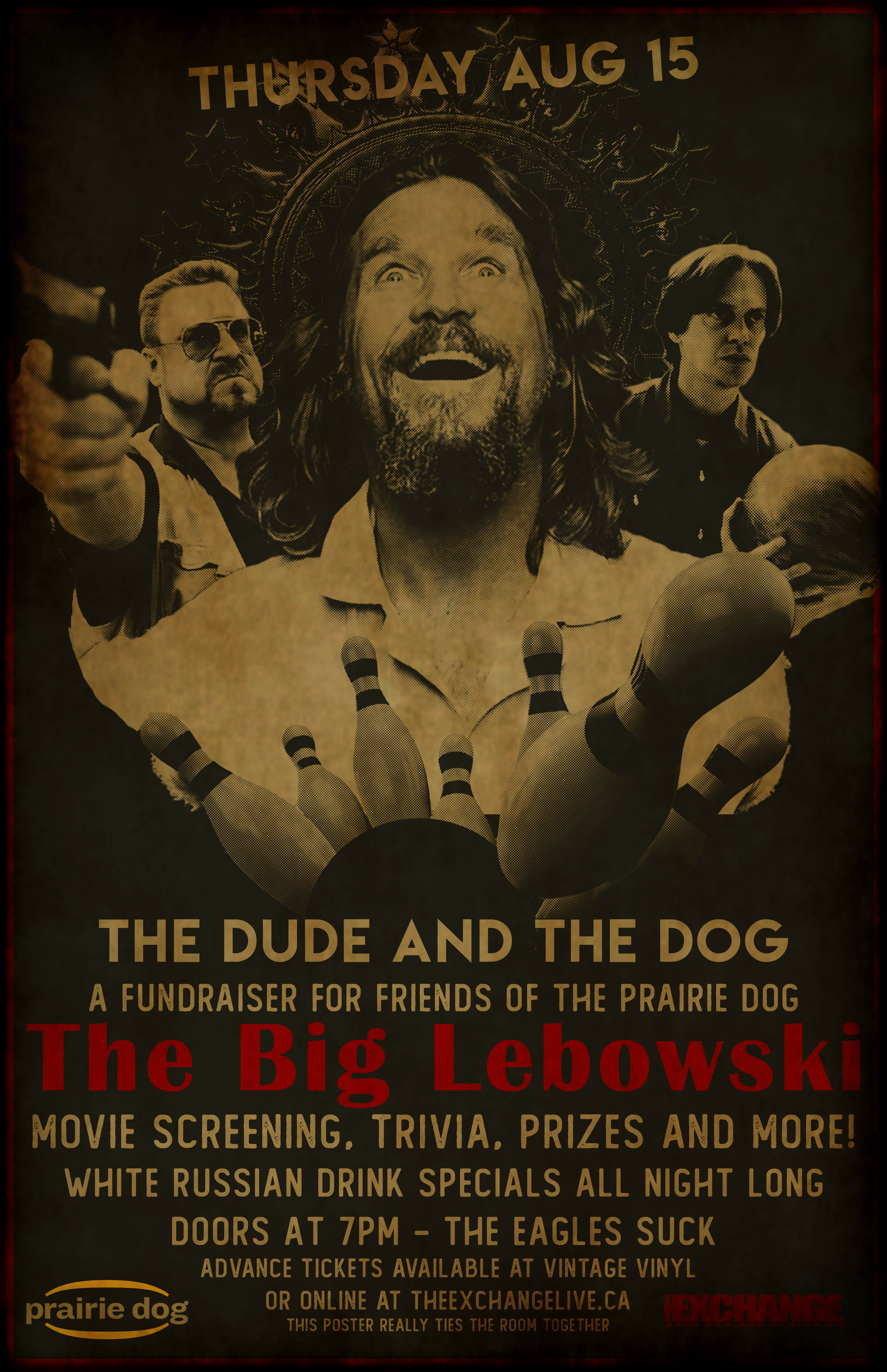The Dude and The Dog - Big Lebowski screening - A Prairie Dog Fundraiser - Image 1