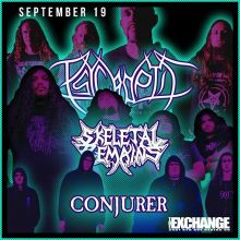 Tonight!  Psycroptic  Skeletal Remains  Conjurer  Doors open at 7:30pm.  Last minute tickets still available at Vintage Vinyl, Madame Yes, and online at theexchangelive.ca @psycroptic_official @skeletalremainsofficial @conjureruk #yqr #yqrevents #seeyqr #