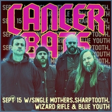 Sunday! @cancerbats at the Exchange! All ages! #yqr #yqrevents #seeyqr #yqrwd @warehouseyqr