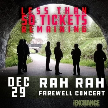 Hey Regina you did it! It hasn't even been 24 hours and Rah Rah is nearly sold out! This is your warning call get your tickets now there are less than 50 left! <a href=https://theexchangelive.ca/event-calendar/post/rahrahfarewell target=_blanc>https://theexchangelive.ca/event-calendar/post/rahrahfarewell</a> @rahrahband @suncliffsmusic @big