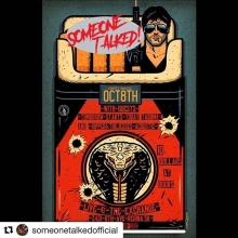 #Repost @someonetalkedofficial with @get_repost ・・・ REGINA! Next Tuesday Oct 8 @theexchangelive club side w/ @thegoodripperandthejesses (acoustic set) @tadomaofficial @tomorrowstartstodaysk Thanks @punk_rock_peace for getting this show together for