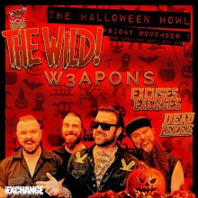 The WILD! will leave you howling for more when they stop in Regina to perform at @thewolfrocks Halloween Howl on Friday! Let's do this!!! Dead Levee, Excuses Excuses and W3apons round out this howling good time! owoooooooooo!!! @thewild_band @deadlevee