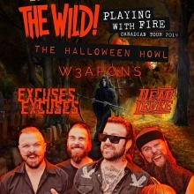 Don't put those costumes away we want to see them on Friday! The Wild! are selling out their shows across the country and Regina is on its way! Get your tickets at Vintage or online! @thewild_band @w3aponsmusic @deadlevee #excusesexcuses #yqr #yqrevents