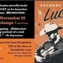 Tonight! Zachary Lucky Album release show! Tickets at the door! #yqrevents #seeyqr #yqrwd #yqrartists #grassrootsregina @zacharylucky #lexydesjarlais