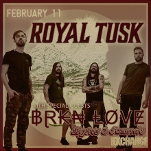 Tuesday! Visit us in the @warehouseyqr and check out @royaltuskmusic @brknlovemusic @sightsandsoundsband in concert! Tix at @vintagevinylsk doors open 8pm all ages and licensed! Tune into @thewolfrocks for a chance to win tickets! #seeyqr #yqrevents #yqrl
